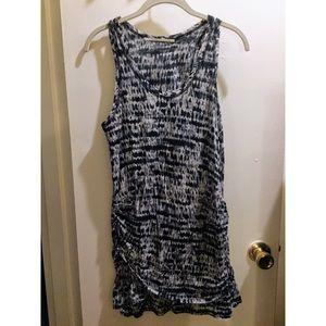 Proenza Schouler blue printed sleeveless minidress